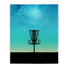 Disc Golf Basket Throw Blanket