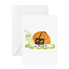 Snail Mailman Greeting Cards