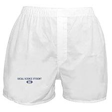 Social Science Student dad Boxer Shorts