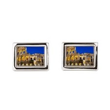 Rome - Colosseum At Dusk Rectangular Cufflinks