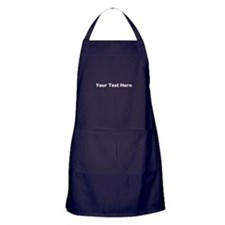Your Text Here White Apron (dark)