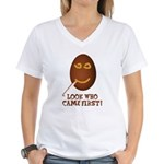 Come First with this Women's V-Neck T-Shirt
