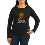 Come First with this Women's Long Sleeve Dark T-Sh