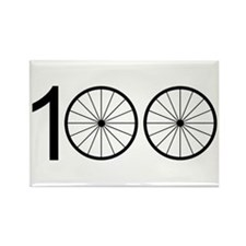 Funny Cyclist Rectangle Magnet