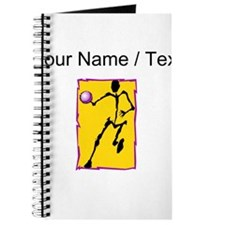 Custom Abstract Basketball Player Journal