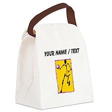 Custom Abstract Basketball Player Canvas Lunch Bag