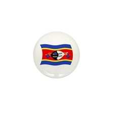 Swaziland Flag 2 Mini Button (100 pack)