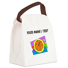Custom Cartoon Basketball Canvas Lunch Bag