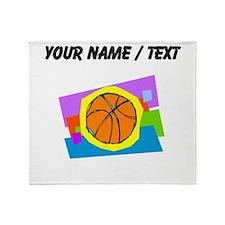 Custom Cartoon Basketball Throw Blanket