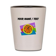Custom Cartoon Basketball Shot Glass