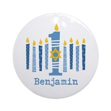 Hanukkah 1st Birthday Ornament (Round)