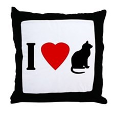 I Love Pussy Throw Pillow