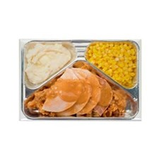 Turkey Tv Dinner Refrigerator Magnets
