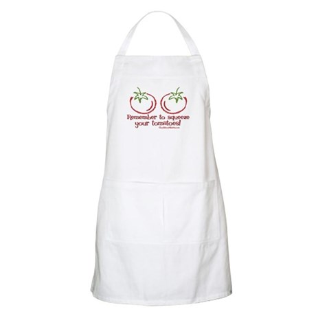 Remember to squeeze your tomatoes BBQ Apron