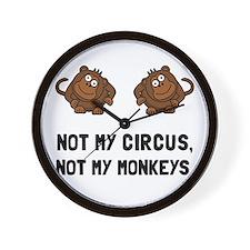 Circus Monkeys Wall Clock