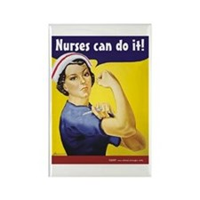 Nurses Can Do it! Rectangle Magnet