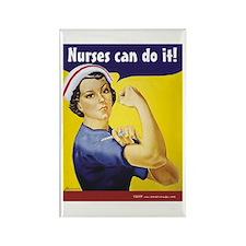 Nurses Can Do it! Rectangle Magnet