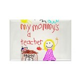 """Blonde Hair Mommy"" Rectangle Magnet"