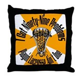 Lacrosse 99 Problems Throw Pillow