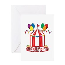 Circus Time Greeting Cards