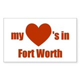 Fort Worth Rectangle Decal