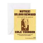 Wanted Cole Younger Greeting Cards (Pk of 10)