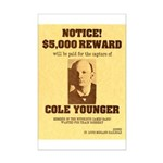 Wanted Cole Younger Mini Poster Print
