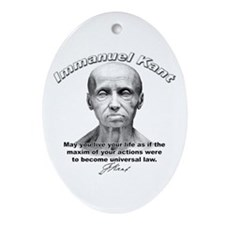 Immanuel Kant 01 Oval Ornament