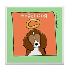 Beagle Angel Memorial Art Tile