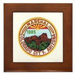 Colorado City Marshal Framed Tile