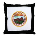 Colorado City Marshal Throw Pillow