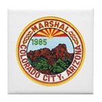 Colorado City Marshal Tile Coaster
