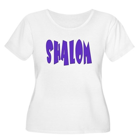 Hebrew Shalom Women's Plus Size Scoop Neck T-Shirt