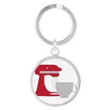 Red Stand Mixer Keychains