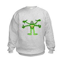 Green Alien monster Sweatshirt