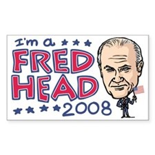 Fred Head Thompson '08 Rectangle Decal