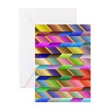 Articulated triangles Greeting Cards