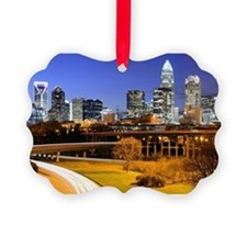skyline of Uptown, the Financial  Picture Ornament