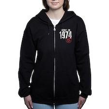 Made In 1974, All Original Parts Women's Zip Hoodi