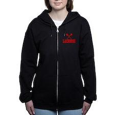 Lacrosse Red Women's Zip Hoodie