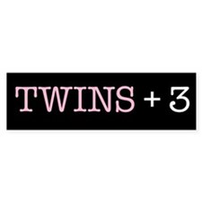 Twins Plus Three - Bumper Bumper Sticker