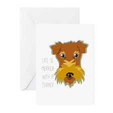 Merrier Terrier Greeting Cards