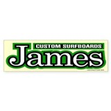 James Custom Surfboards Bumper Bumper Sticker