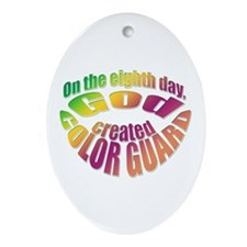 God Created Color Guard Oval Ornament