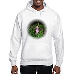 Pink Lady's Slipper Hooded Sweatshirt