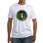 Pink Lady's Slipper Fitted T-Shirt