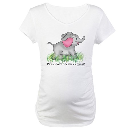 Elephant Maternity T-Shirt