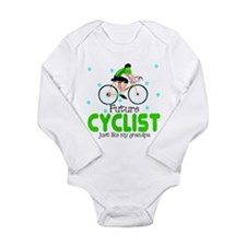 Unique Cyclist Long Sleeve Infant Bodysuit