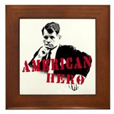 RFK American Hero Framed Tile