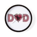 Dad Heart Wall Clock